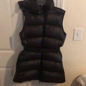 Moncler hooded belted vest